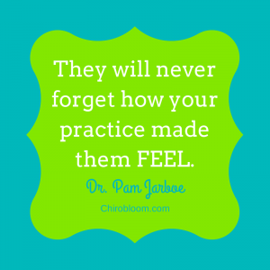 Never forget how your practice made them feel